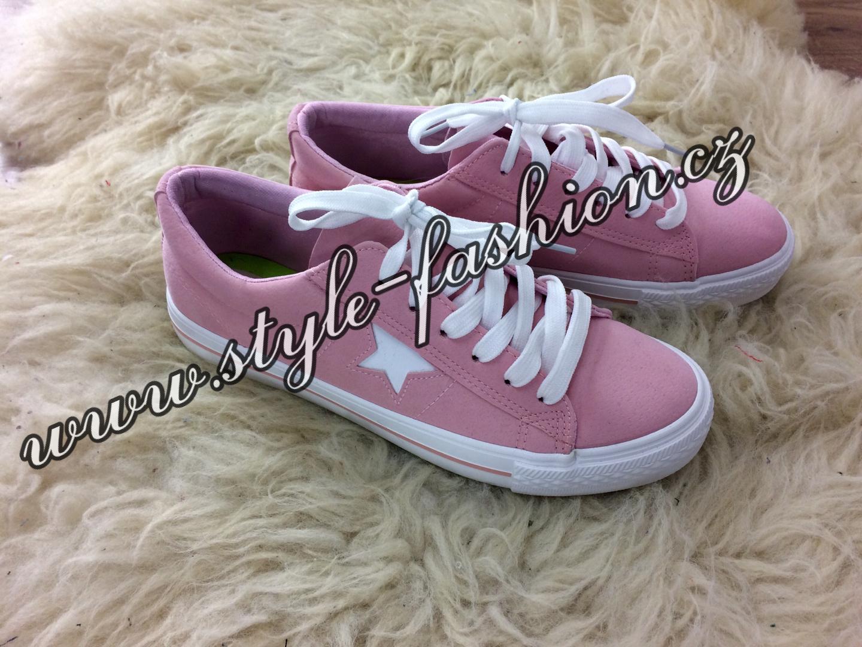 ba433bb95792 Krásné trendy tenisky - růžové