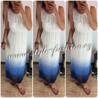 f1057ba56feb Šifonové šaty Ombre Blue empty
