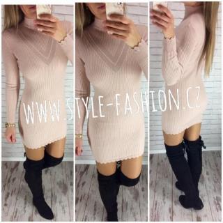 6a333b4f0cce Svetrové šaty či svetr s prodlouženou délkou Markéta růžové empty